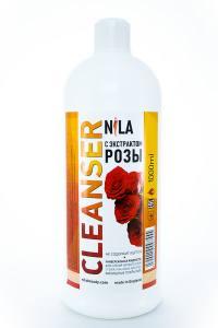 Жидкость для снятия липкого слоя Nila 1л роза