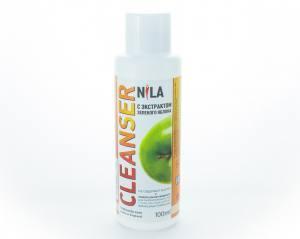 Жидкость для снятия липкого слоя Nila 100мл яблоко