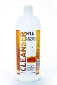 Жидкость для снятия липкого слоя Nila 1л молоко и мед