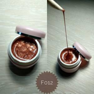 Эластичная гель краска Mett ( 3D, паутинка) № F012 рыжий перламутр