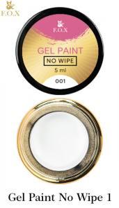 Гель-краска F.O.X Gel paint No Wipe без липкого слоя 5г №1 белая