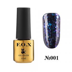 Гель-лак F.O.X.  Yuki Flakes® 001