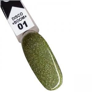 Гель-лак Oxxi Disco Boom №01 (зеленый, светоотражающий) 10 мл
