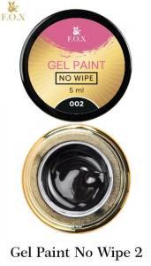 Гель-краска F.O.X Gel paint No Wipe без липкого слоя 5г №2 черная