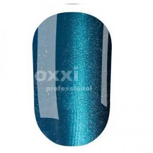 """Гель лак Oxxi """"Кошачий глаз"""" №004 (темный голубой, магнитный)"""