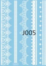 Флеш-тату Белое J005