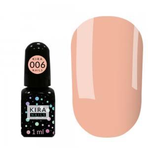 Гель-лак Kira Nails Mini №006 (розово-персиковый для френча, эмаль), 1 мл