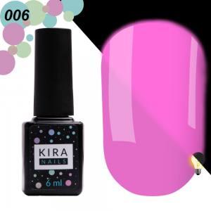 Гель-лак Kira Nails FLUO 006 (сиреневый, флуоресцентный), 6 мл