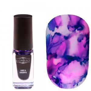 Акварельные капли 5мл Komilfo Aqua Drops Purple №008 Фиолетовые