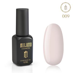 База камуфляж Milano 12ml Cover Rubber Base Gel №9