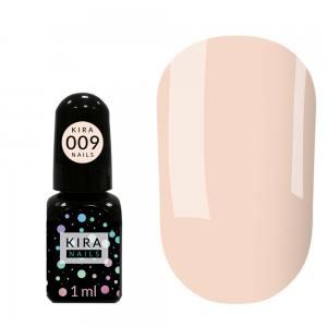Гель-лак Kira Nails Mini №009 (бледно-бежевый, эмаль), 1 мл