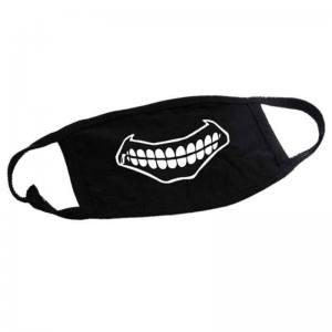 Маска для лица черная с рисунком Зубы