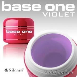 Гель прозрачно-голубой Silcare violet заводская фасовка 15г