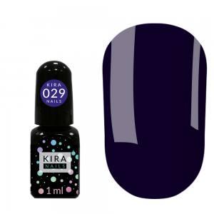 Гель-лак Kira Nails Mini №029 (сине-фиолетовый, эмаль), 1 мл