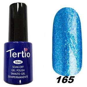 Гель-лак Tertio Темно-лазурный с блестками №165 10 мл