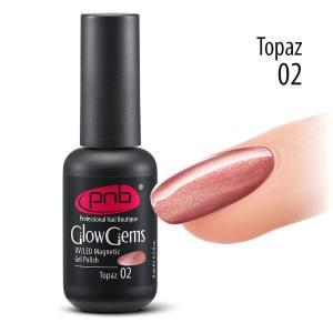 Магнитный гель лак Glow Gems PNB 02 Topaz