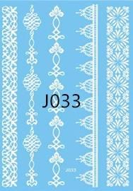 Флеш-тату Белое J033