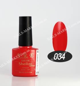 Гель-лак YRE/Bluesky 10мл №34 светло-красный