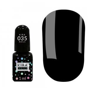 Гель-лак Kira Nails Mini №035 (черный, эмаль), 1 мл