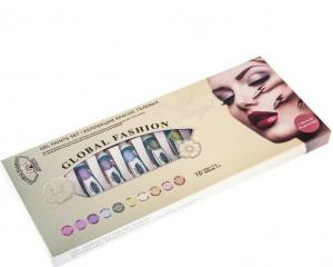 Набор гелевых красок для дизайна ногтей Global Fashion Pastel rings 10 цветов по 5 г