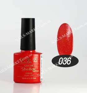 Гель-лак YRE/Bluesky 10мл №36 красный с микроблеском