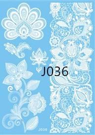 Флеш-тату Белое J036