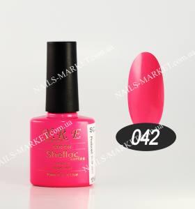 Гель-лак YRE/Bluesky 10мл №42 кислотно-розовый