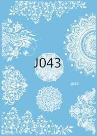 Флеш-тату Белое J043
