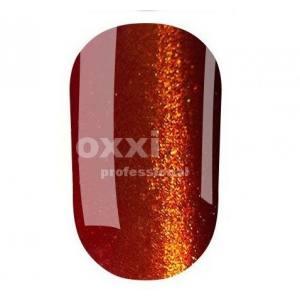 """Гель лак Oxxi """"Кошачий глаз"""" №068(коричнево-красный, магнитный)"""