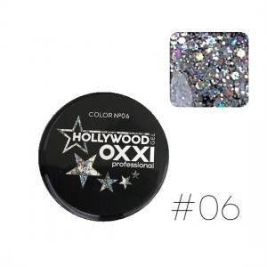 Глиттерный гель Oxxi Hollywood №6