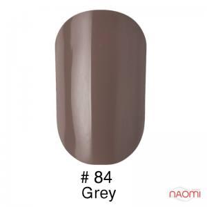 Гель-лак Naomi Gel Polish 84 - Grey, 6 мл cветлый бежево-кофейный