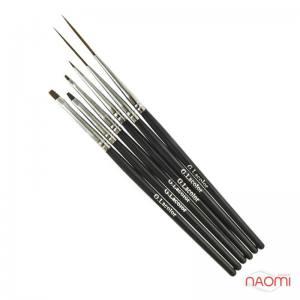 Набор кистей G. Lacolor для дизайна и китайской росписи с черной ручкой (6 шт)