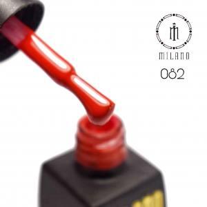 Гель лак MILANO 8мл 082 классический красный