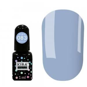 Гель-лак Kira Nails Mini №083 (бледно-васильковый, эмаль), 1 мл