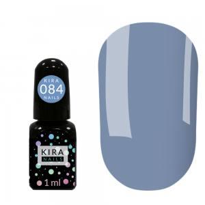 Гель-лак Kira Nails Mini №084 (васильковый, эмаль), 1 мл