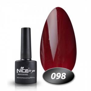 Гель-лак Nice 8.5г №098 шоколадно-баклажанный