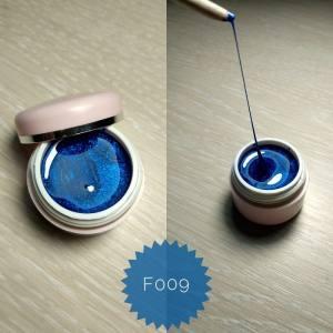 Эластичная гель краска Mett ( 3D, паутинка) № F009 синий перламутр