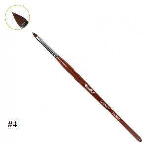 """Кисть для дизайна ногтей Roubloff GN93R, коричневая """"Лепесток"""" №4"""