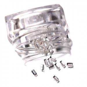Komilfo Металлические Текстурные Заклепки серебро прямоугольник маленький, 1,5*3 мм, 50 шт
