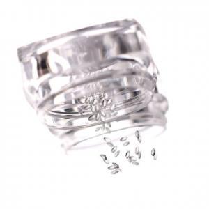 Komilfo Металлические Текстурные Заклепки серебро овал маленький, 1*2 мм, 50 шт
