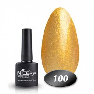 Гель лак Nice 100,с мелкими золотыми блестками, 8.5 гр
