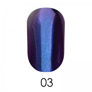 Зеркальная пудра Adore 1 г №3  синий с фиолетовым отливом