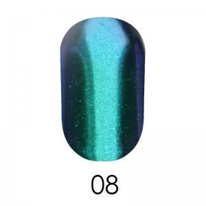 Зеркальная пудра Adore 1 г №8  бирюзовый с фиолетовым отливом