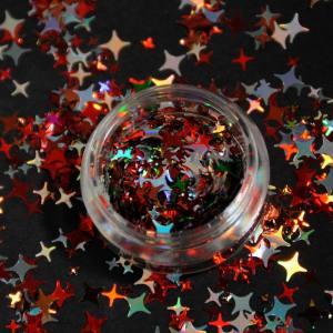 """Конфетти """"Рождественские звезды"""" микс цветов, микс, для дизайна ногтей CS-103"""