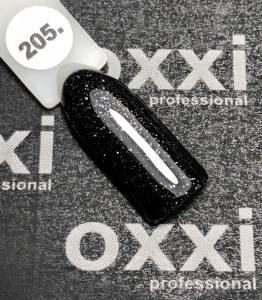 Гель-лак OXXI Professional №205 (черный с серебристыми блестками), 8 мл
