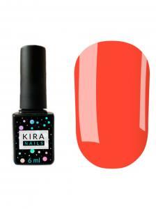 Гель-лак Kira Nails №106 (светло-коралловый, эмаль, неоновый), 6 мл