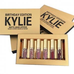 KYLIE Birthday Edition жидкая матовая помада (6 шт) золотая коробка D