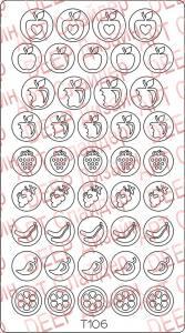 Трафарет для deep дизайна №106