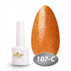 Гель-лак Nice for you Cool 8,5 ml С107 рыжее золото