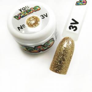 Ультраблестящий гель-лак VEGAS от Yo!Nails, цвет V3
